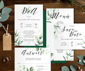 "Letterpress Hochzeitspapeterie ""Beautiful Botanicals"""