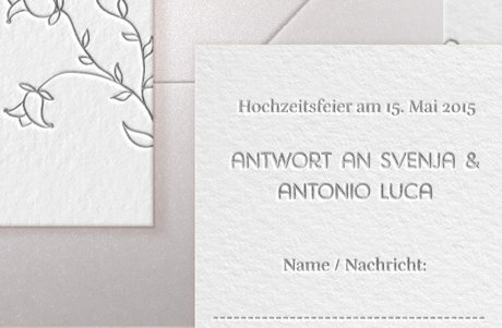 "Letterpress Hochzeitspapeterie ""Lovely flowers"""