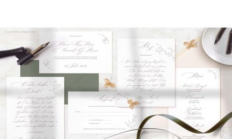 "Hochzeitspapeterie ""Celestial Calligraphy"""