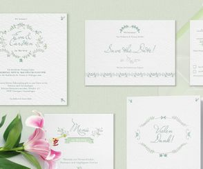 "Letterpress Hochzeitspapeterie ""The secret garden"""