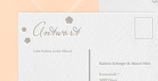 "Letterpress Hochzeitspapeterie ""Romance in the park"" Save-the-date Karte"